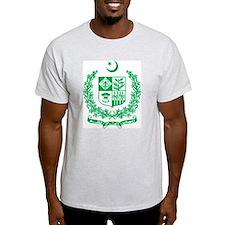 Pakistan Coat Of Arms Ash Grey T-Shirt