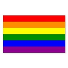 Gay Pride Flag Rectangle Stickers