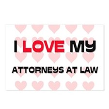 I Love My Attorneys At Law Postcards (Package of 8