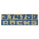 Pi 3.14159 Rocks Bumper Bumper Sticker