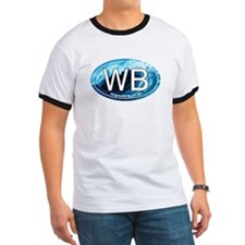 WB Wrightsville Beach Wave Oval T