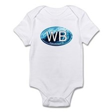 WB Wrightsville Beach Wave Oval Infant Bodysuit