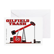 Oilfield Trash Greeting Cards (Pk of 10),Oil,Gas,