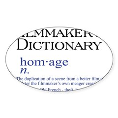 Film Dictionary: Homage Oval Sticker (10 pk)
