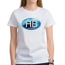 HB Holden Beach Wave Oval Tee