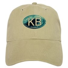 KB Kure Beach, NC Wave Oval Baseball Cap