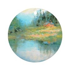 Lake House Ornament (Round)