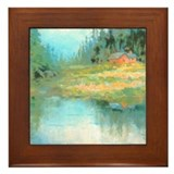 Lake House Framed Tile