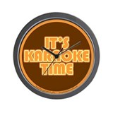 It's Karaoke Time Wall Clock