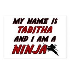 my name is tabitha and i am a ninja Postcards (Pac