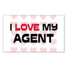 I Love My Agent Rectangle Decal
