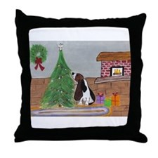 Happy Howlidays! Throw Pillow