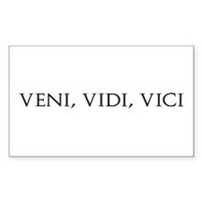 Veni Vidi Vici Rectangle Decal