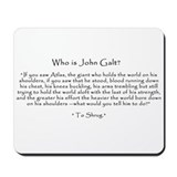 "Who is John Galt? ""To Shrug"" Quote Mouse"