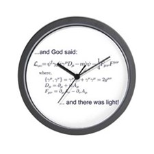 God said, let there be light (QED) Wall Clock