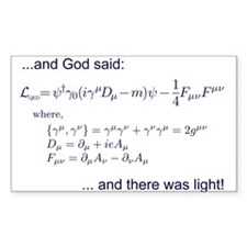God said, let there be light (QED) Decal