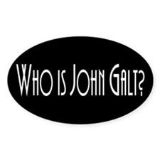 Who is John Galt? Atlas Shrugged Oval Decal
