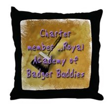"""Badger Buddies"" Throw Pillow"