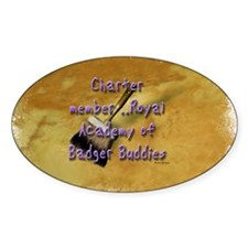 """""""Badger Buddies"""" Oval Decal"""
