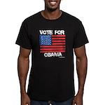 Vote for Obama Men's Fitted T-Shirt (dark)
