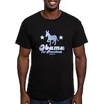 Obama for President Men's Fitted T-Shirt (dark)