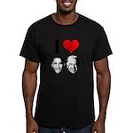 I Heart Obama Biden Men's Fitted T-Shirt (dark)