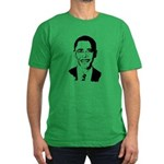 Barack Obama screenprint Men's Fitted T-Shirt (dar