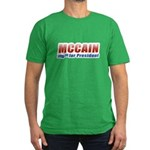 MCCAIN for President Men's Fitted T-Shirt (dark)