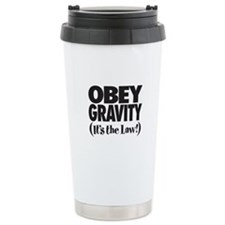 Law of Gravity Ceramic Travel Mug