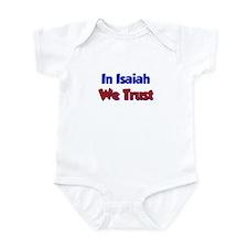 In Isaiah We Trust Infant Bodysuit