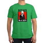 DETAIN MCCAIN Men's Fitted T-Shirt (dark)