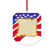 Ten Commandments Ornament (Round)