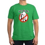 Anti-McCain: Just say no Men's Fitted T-Shirt (dar