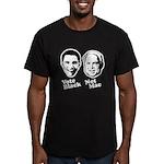 Vote Black. Not Mac. Men's Fitted T-Shirt (dark)