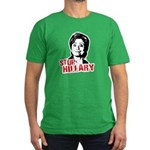 Anti-Hillary: Stop Hillary Men's Fitted T-Shirt (d