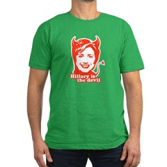 Hillary Clinton is the devil Men's Fitted T-Shirt