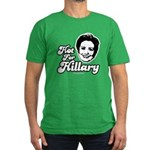 Hot for Hillary Men's Fitted T-Shirt (dark)