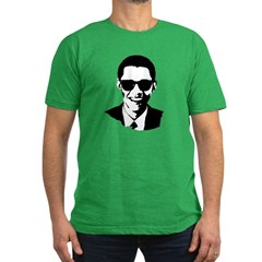 Obama Raybans Men's Fitted T-Shirt (dark)