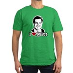 I Love Mitt Men's Fitted T-Shirt (dark)