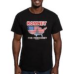 Romney for President Men's Fitted T-Shirt (dark)
