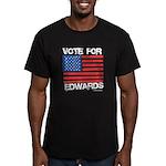 Vote for John Edwards Men's Fitted T-Shirt (dark)