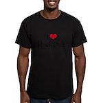I heart Huckabee Men's Fitted T-Shirt (dark)