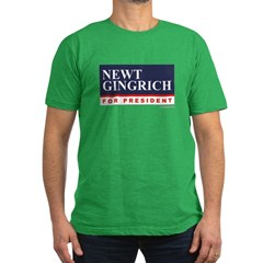 Newt Gingrich Men's Fitted T-Shirt (dark)