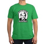 Gingrich is my homeboy Men's Fitted T-Shirt (dark)