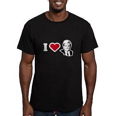 I Love Newt Men's Fitted T-Shirt (dark)
