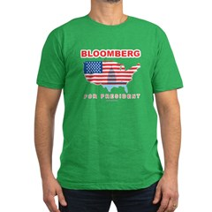Bloomberg for President Men's Fitted T-Shirt (dark