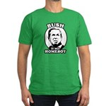 Bush is my homeboy Men's Fitted T-Shirt (dark)