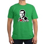 I Love Jeb Men's Fitted T-Shirt (dark)