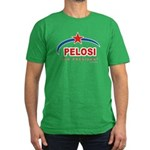 Pelosi for President Men's Fitted T-Shirt (dark)