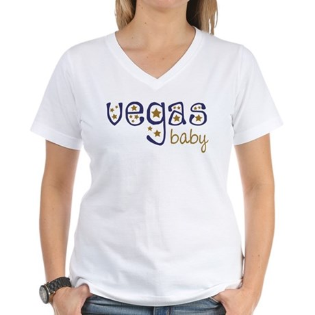 Vegas Baby Women's V-Neck T-Shirt